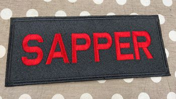 SAPPER EMBROIDERED BADGE LARGE